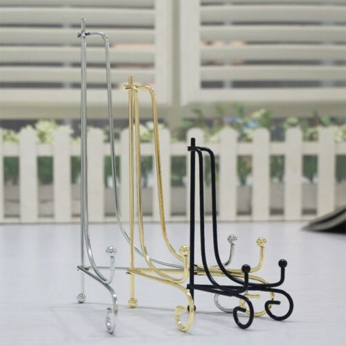 """4/""""-12/"""" Iron Easel Classic Display Stand Bowl Plate Art Photo Picture Frame Books"""