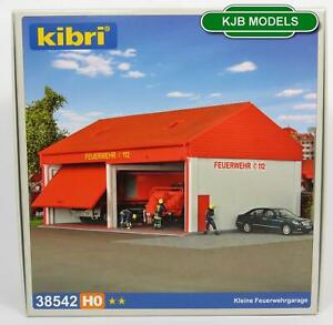 BNIB-OO-HO-GAUGE-KIBRI-38542-FIRE-DEPARTMENT-GARAGE-KIT