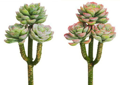 Artificial Plastic Hen & Chicks Succulent Plant Home Wedding Floral Craft 8 NEW