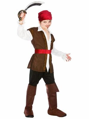 Capitano dei pirati età 5 6 7 Ragazzi Libro Settimana Costume Bambini Caraibi Costume Film