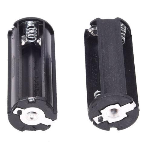 2 Stueck Schwarzer Batteriehalter fuer 3 x 1,5 V AAA-Batterien Taschenlampen Fac