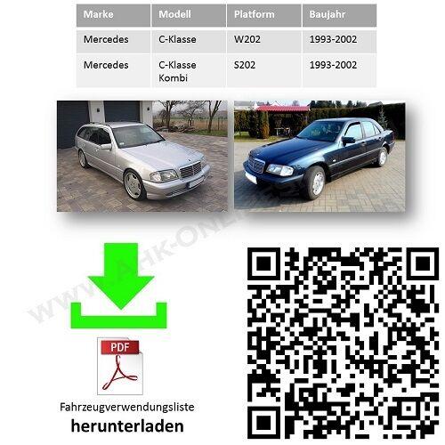 AHK /& ES13 Mercedes-Benz W202 S202 Bj 93-00 Anhängerkupplung /& E-Satz komplett