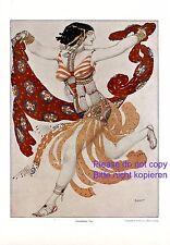 Orientalischer Tanz XL Druck 1914 Leon Bakst Tänzerin Orient Erotik Bauchtanz