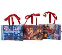 Illuminart Set Of 3 4 X 6 Led Canvas Paintings H203496 Santa Theme