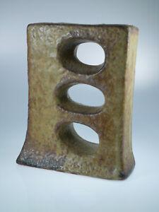 Lochvase-Fat-Lava-Beige-Van-Woerden-60s-70s-ca-17cm