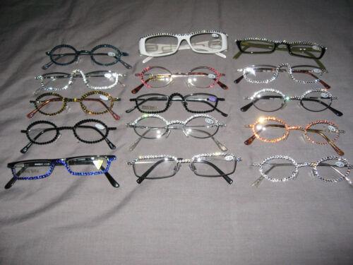Swarovski Crystal Jeweled Reading Glasses Bling Wire Frames +1.25 NEW!
