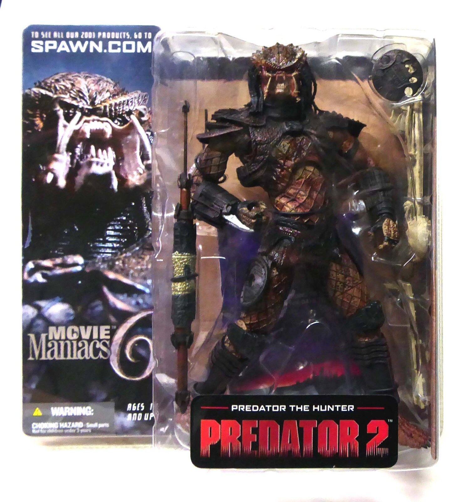McFarlane Movie Maniacs 6 Predator 2 The Hunter Action Figure .
