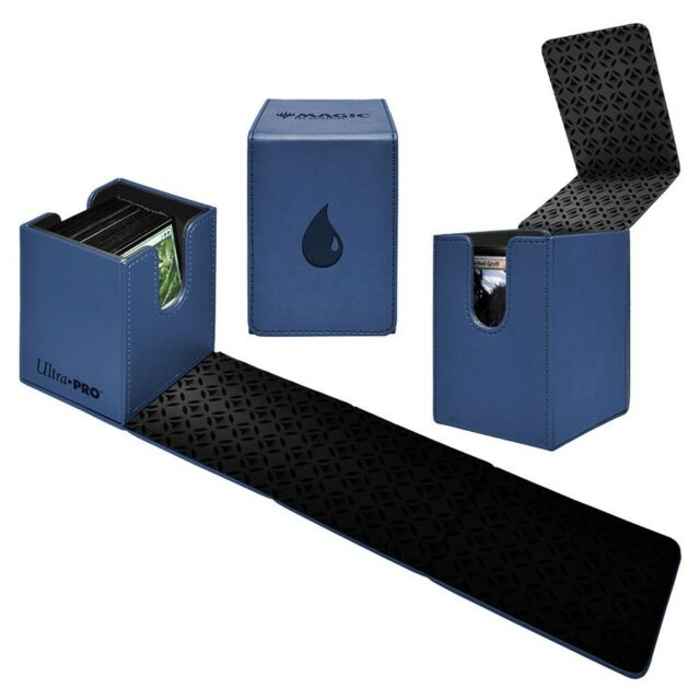 Blue mana symbol Alcove Island Ultra Pro flip box card box case for MTG cards