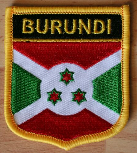 BURUNDI Africa Shield Country Flag Embroidered PATCH Badge P1