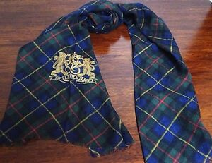 LAUREN RALPH LAUREN WOMEN SCARF BLUE RED POLO RALPH LAUREN LOGO NWT