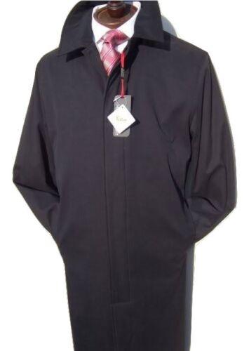 £ 69 Gratis Da Uomo Nera Impermeabile Rivestimento Caldo Cappotto Giacca Pioggia