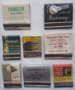 VINTAGE-MATCHBOOKS-CANADA-STORES-SHOPS-PLUS-X-8-TORONTO-USED-PART-USE-UNUSED
