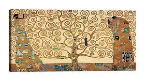 Quadro-Klimt-L-039-Albero-della-Vita-Stampa-su-Tela-Canvas-Vernice-Effetto-Dipinto