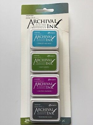 Ranger Designers Series Archival Ink Mini Kit #2 AMDK57802 by Wendy Vecchi 4 Pcs