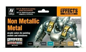 Av-Vallejo-Non-Metallique-Metal-Acrylique-Couleur-Set-Pour-Modeles