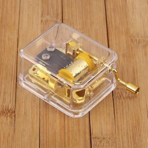 Hand-Crank-Hurdy-Gurdy-Clear-Music-Box-Choice-of-Song-Let-It-Go