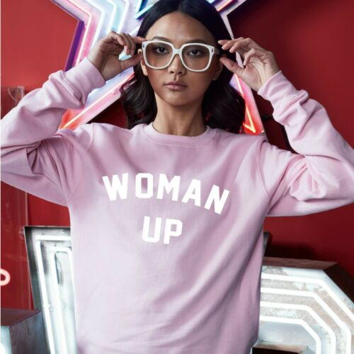 Sweater Jumper Funny Cool Feminist Statement Female Woman Up Sweatshirt JH030