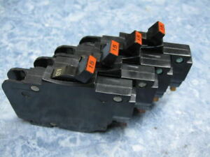 4-15-Amp-FEDERAL-PACIFIC-Stab-Lok-FPE-15A-120V-1-2-034-Thin-BREAKERs-Type-NC