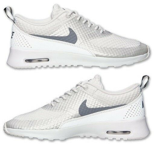 NIKE AIR MAX THEA PRINT WOMEN's MESH M RUNNING BASE GREY - METALLIC - COOL GREY Seasonal clearance sale