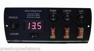 sargent ec digital control panel battery monitor v caravan image is loading sargent ec30 digital control panel battery monitor 12v