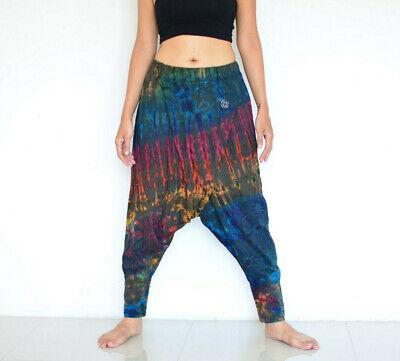 Womens Tie Dye Baggy Harem Pants Harem Boho Trouser Ladies Loose Casual Bottom