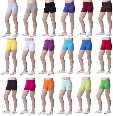 Da Donna Super Morbido Cotone Pantaloncini Elastico Stretch Yoga Sport Slip Uk 8-22-mostra Il Titolo Originale Buono Per Succhietto Antipiretico E Per La Gola