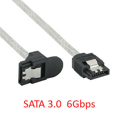 3 Ft Serial ATA SATA 3.0 SATA-III 6Gbps Straight to Right-Angled Cable w// Latch