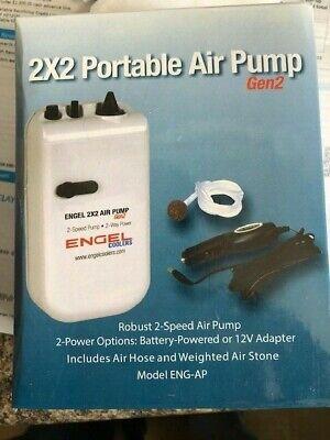 Engel Coolers ENG-AP Portable Live Bait 2 Speed Aerator Pump Kit /& 12V Adapter