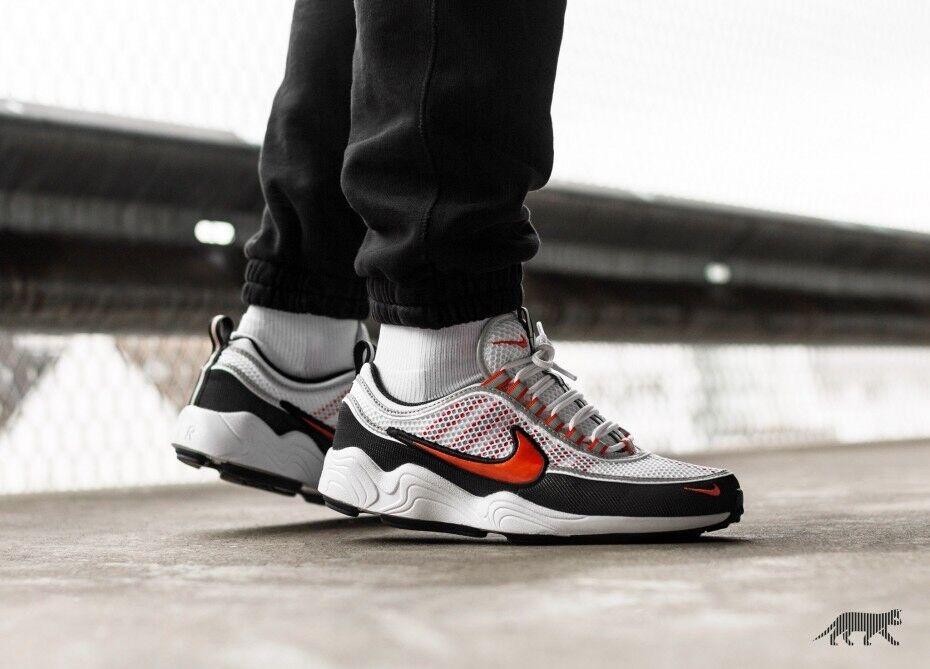 sports shoes f5568 a6880 Nike Air Zoom Spiridon 16 Blanc Team Orange Noir Taille hommes Chaussures  de sport pour hommes et femmes 504ebd