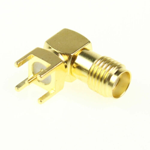 SMA RF Connector Female Jack Right Angle PCB PC Board Mount Coaxial Adapter Lot