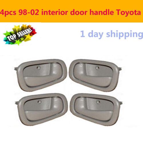 For 1998-2002 Toyota Corolla Prizm Interior Door Handles Grey 2 Left /& 2 Rights