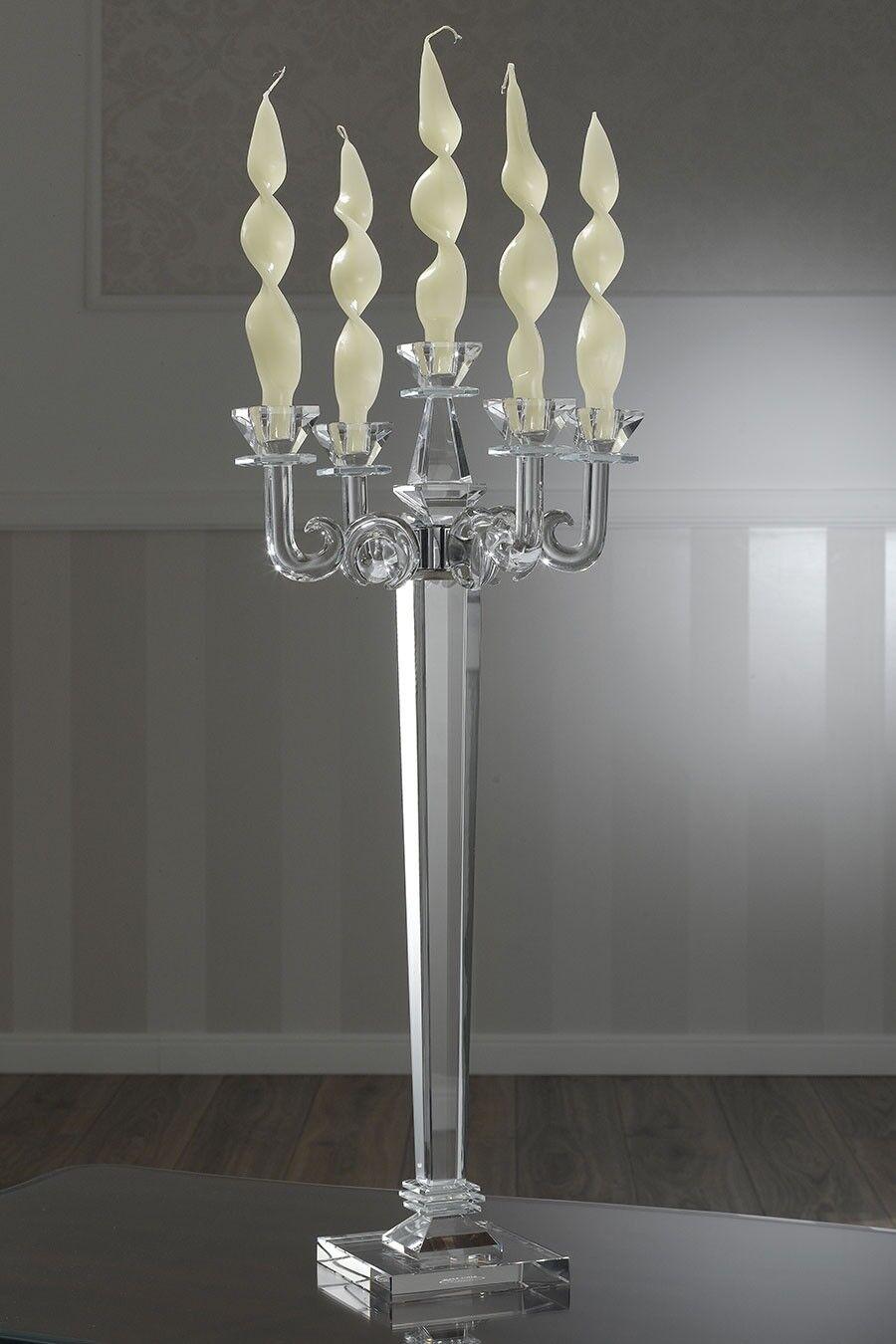 Kerzenleuchter Pavel Kerzenhalter Glas crystal 5 Flammen  | Creative