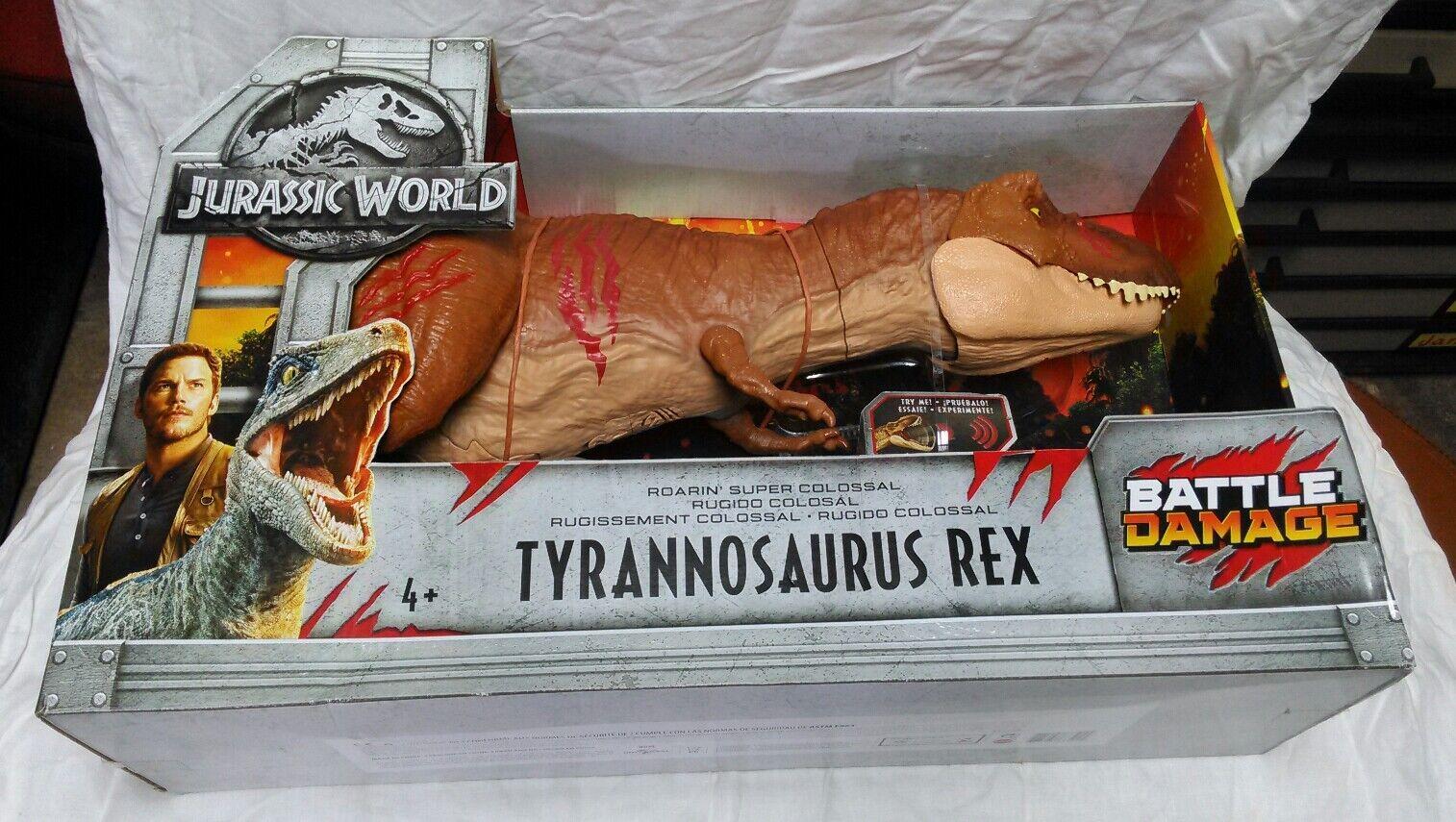 Jurassic World Ftuttien redom  Tyrannosaurus Rex Super Colossal By Mattel.  molto popolare