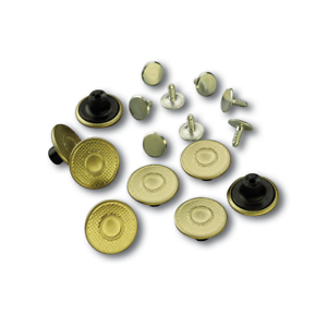 New Package of 8 Brass Original Genuine Carhartt Suspender Buttons A10 BRS