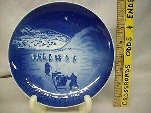 Christmas In Greenland.Details About Vintage 1972 Bing Grondahl Christmas In Greenland Porcelain Plate Denmark