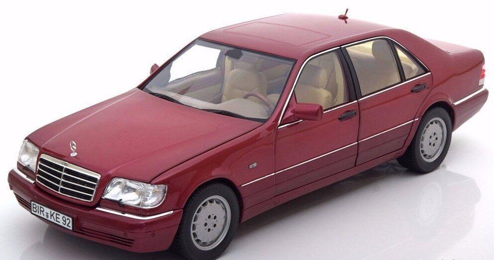 Norev 1994 mercedes - benz s500 fahrzeug dunkelroten 18  neuer posten
