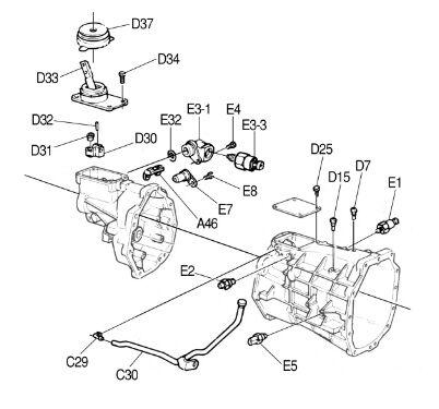 97 2007 Corvette Tremec T56 Electronic Speed Sensor E7 12369458