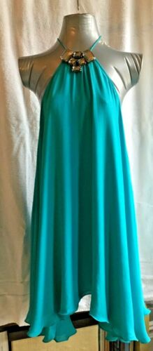 Plein Sud A -Line Turquoise Silk  women dress with