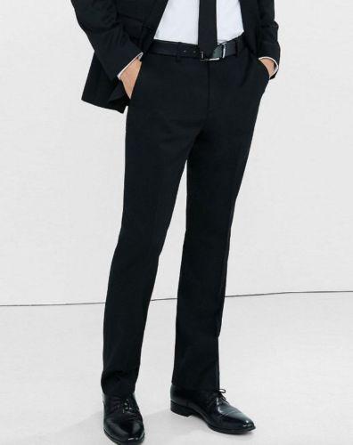 New 32x30 Express Taglia Blend Producer Dress Cotton Suit Twill Pants Black Modern rr1dvXqP