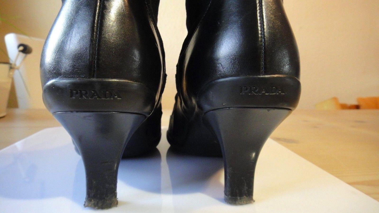 Original PRADA STIEFEL Stiefel 37,5 Schuhe schwarz schwarz Schuhes Gr. 37,5 Stiefel designer 5f63c6
