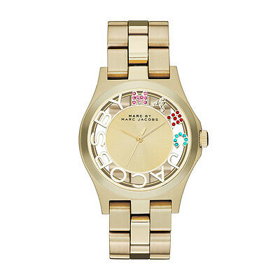 NEW MARC JACOBS MBM3263 GOLD LADIES HENRY SKELETON WATCH - 2 YEAR WARRANTY