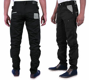 MENS-NEW-ETO-JEANS-TAPERED-STYLE-IN-BLACK-COATED-COLOUR-ALL-SIZES-28-TO-42