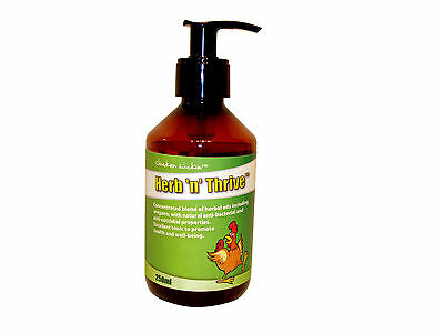 250ml Herb 'n' Thrive from Chicken Lickin for  Poultry Birds Hens Hatching eggs