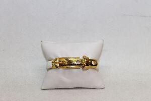 CC-SKYE-Ladies-White-amp-Gold-Coloured-Buckle-Design-Clasp-Detail-Bangle-Bracelet
