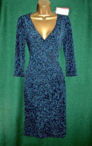 Robe Bleu Imprimé Monsoon Jersey Genou Animal New Josie Au Sarcelle Longueur SvUxHEq6w