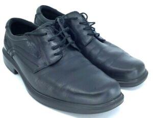 Ecco-Helsinki-Oxford-Mens-EUR-46-US-12-12-5-Black-Leather-Lace-Up-Plain-Toe-Shoe