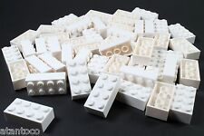 LEGO White Brick 2x4 - Brand New (Lot of 50 Pieces)