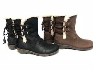 de3b8eeae80 Details about UGG Australia 1007760 Akadia Stout / Black Winter Booties  Lace Up Boots Leather