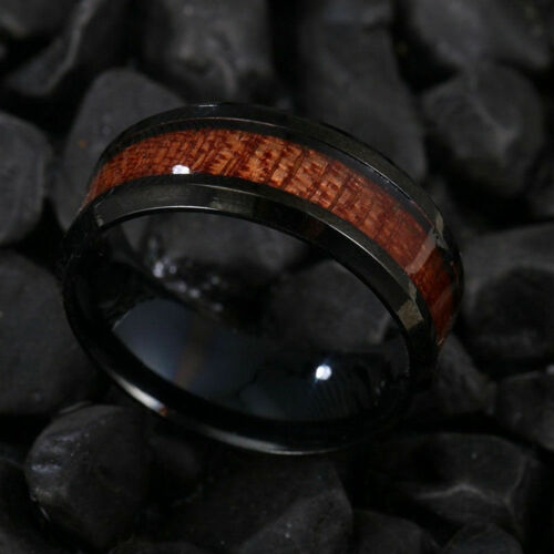 WOOD FASHION RINGS MEN/'S RING GOLD SILVER ALL SIZES CANADA ! BLACK