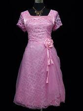 Cherlone Pink Prom Ball Evening Bridesmaid Wedding Knee Length Formal Dress 16